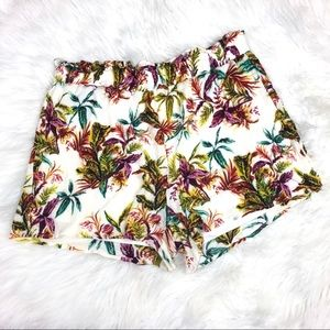 Staccato Shorts - Staccato Tropical Print Shorts Size Large
